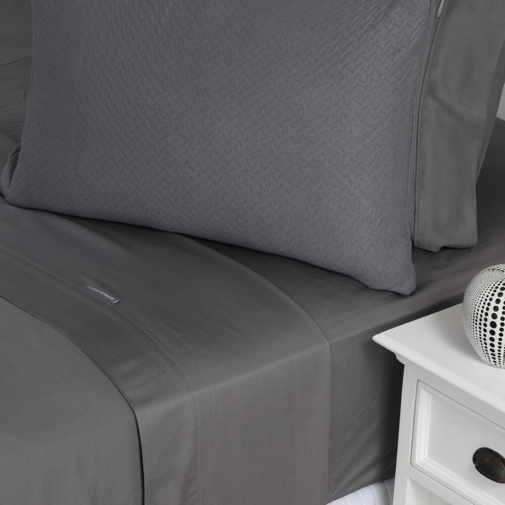 Dark Grey 40% Bamboo Pillowcase
