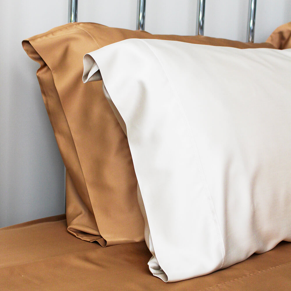 Terracotta and Natural Pillow Cases