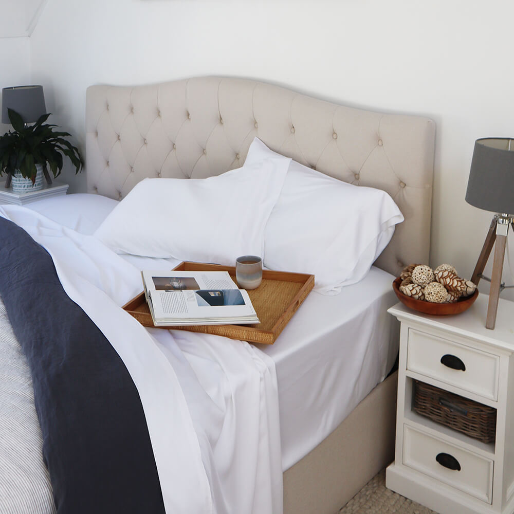 White Styled Bed