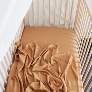 Bamboo Haus Flat Cot Sheet - Terracotta