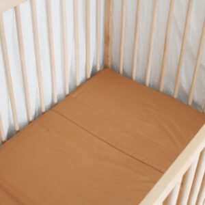 Bamboo Haus Fitted Cot Sheet - Terracotta