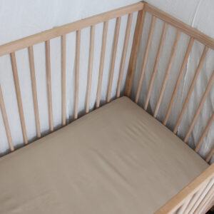 Bamboo Haus Fitted Cot Sheet - Natuaral