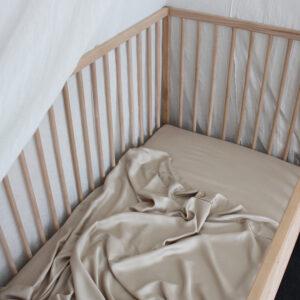 Bamboo Haus Flat Cot Sheet - Natural