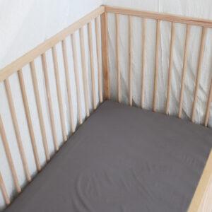 Bamboo Haus Grey Flat Cot Sheet