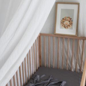 Bamboo Haus Flat Cot Sheet - Grey