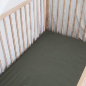 Bamboo Haus Khaki Flat Cot Sheet