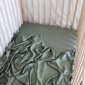 Bamboo Haus Flat Cot Sheet - Khaki