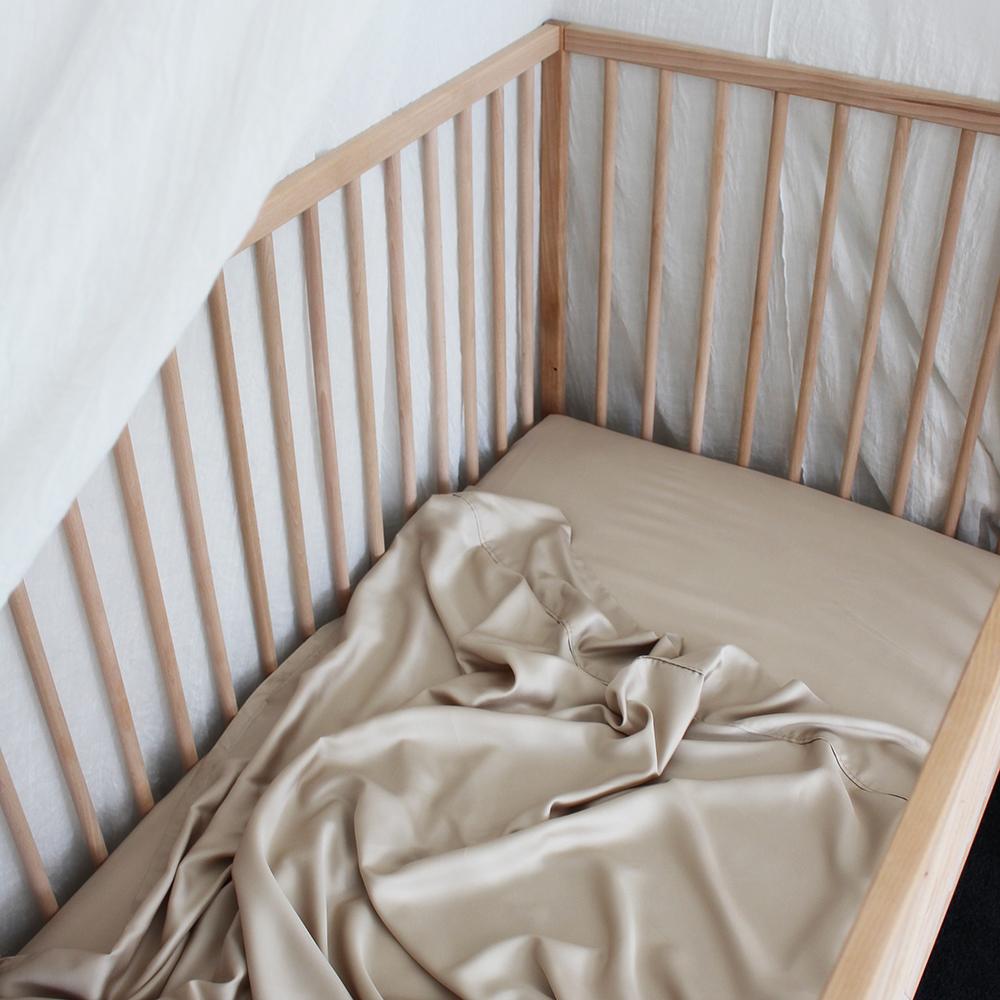 Bamboo Haus Cot Sheet - Natural